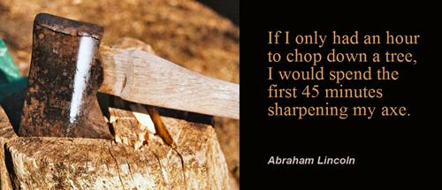 sharpenthe saw