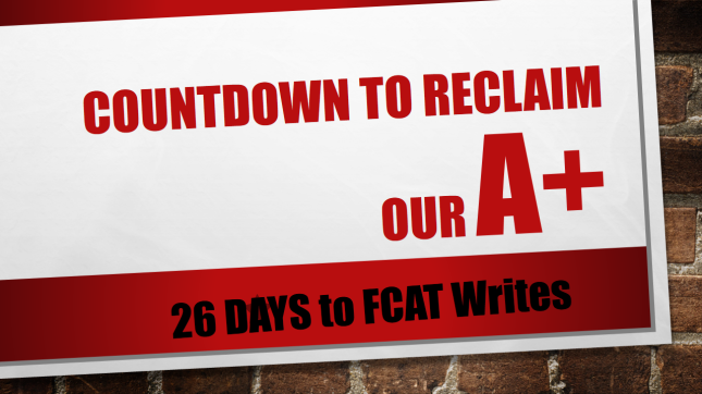 Countdown to reclaim our A+